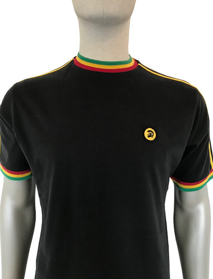 Trojan Twin-Stripe Tee TC/1012 Rasta