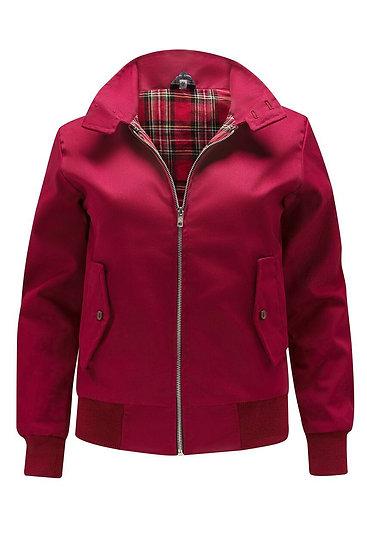 Ladys Classic Harrington Jacket BARGUNDY