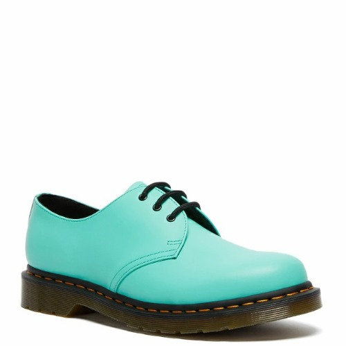 1461 3 EYELET SHOES PEPPERMINT GREEN SMOOTH 26369983