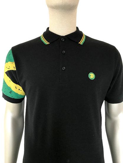 Trojan Flag Sleeve Pique Polo TR/8425 Jamaica