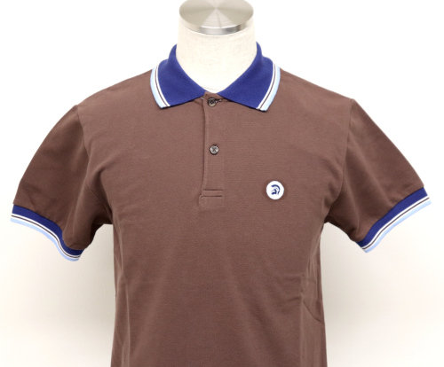 Trojan Contrast Trim Polo TC/1008 Chocolate