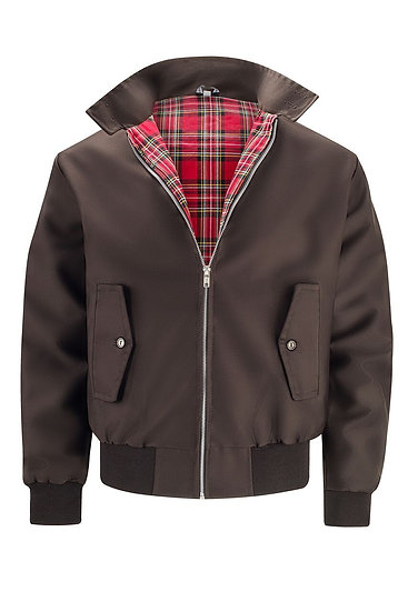 Mens Classic Harrington Jacket BROWN