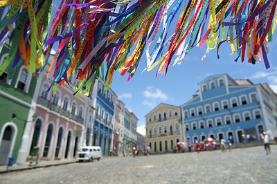 Street view in Salvador, Bahia