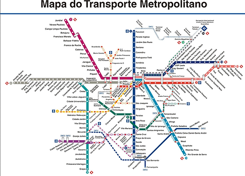 Map of São Paulo Metro network