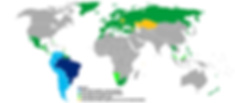 World map, countries which need a visa for Brazil