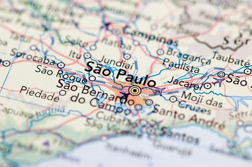 Map of São Paulo
