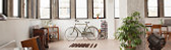 Bycicle in apartment