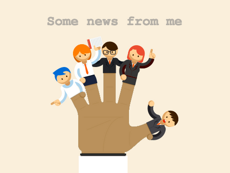 [Newsletter] Some news from me