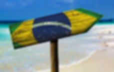 Brazilian flag location arrow