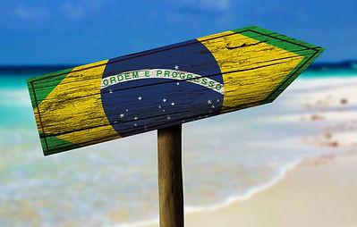 Brazilian flag location arrow