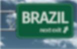 Brazil highway sign