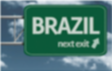 Brazil sign on highway