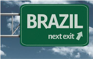 Brazil sign on highway