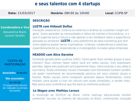 21/03 –CCFB Conference: « Come and Discover the French Tech in Brazil with 4 startups »