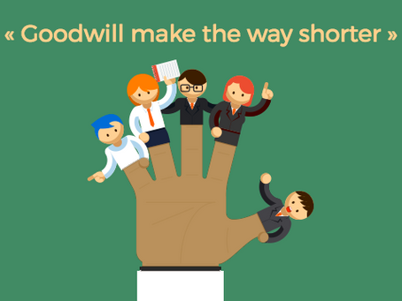 "[Newsletter] ""Goodwill make the way shorter"""