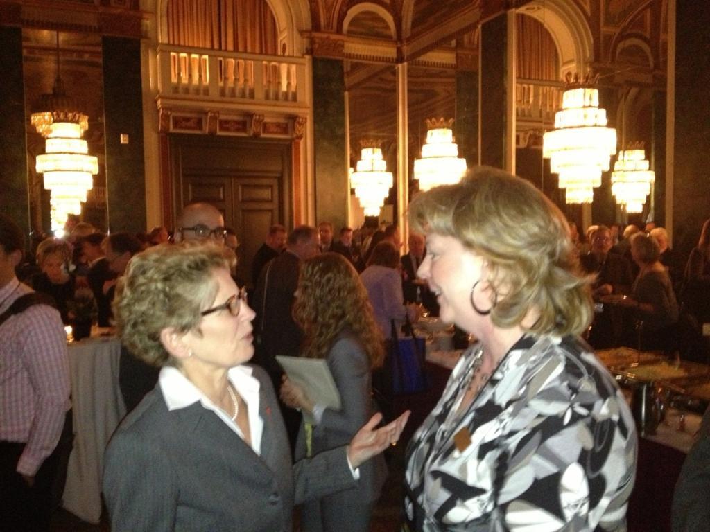 With Premier Wynne