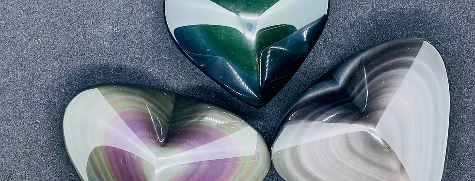 Ice Colorful Obsidian Heart