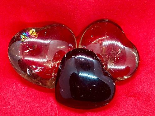 Mini Smokey Quartz Hearts