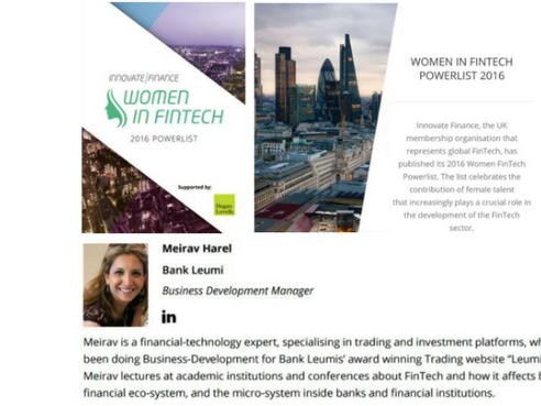 Innovative Finance's Women in FinTech 2016 Powerlist
