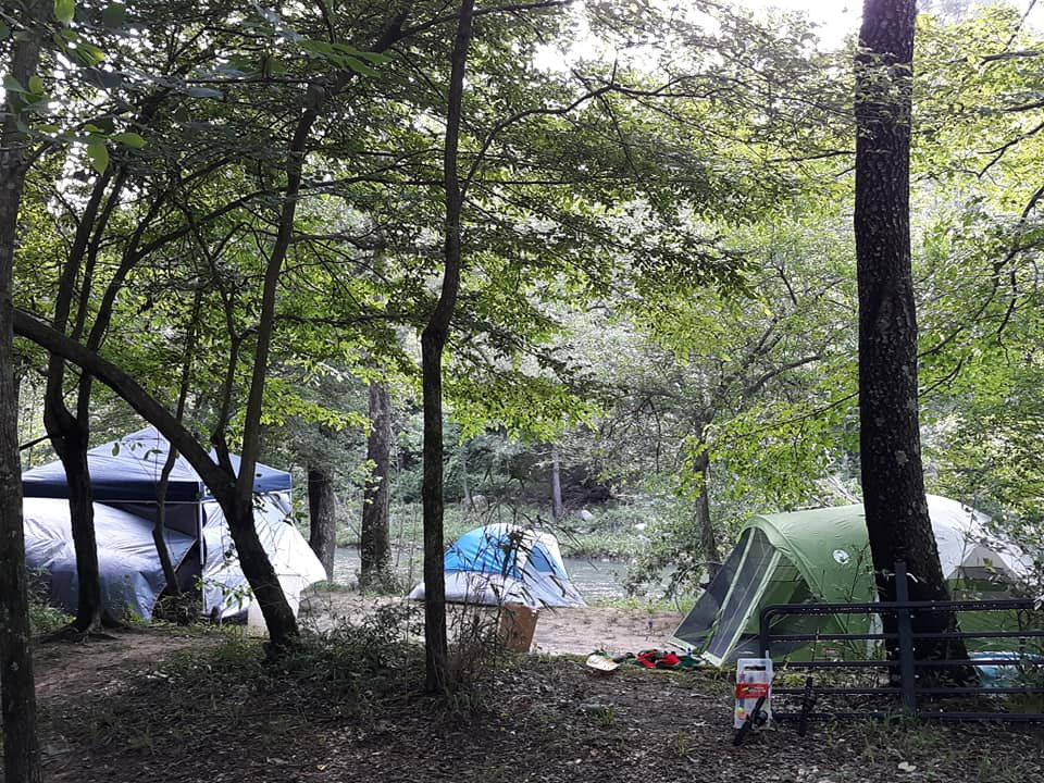 Tent Camping on the Kiamichi River @ Gibby n Dall's