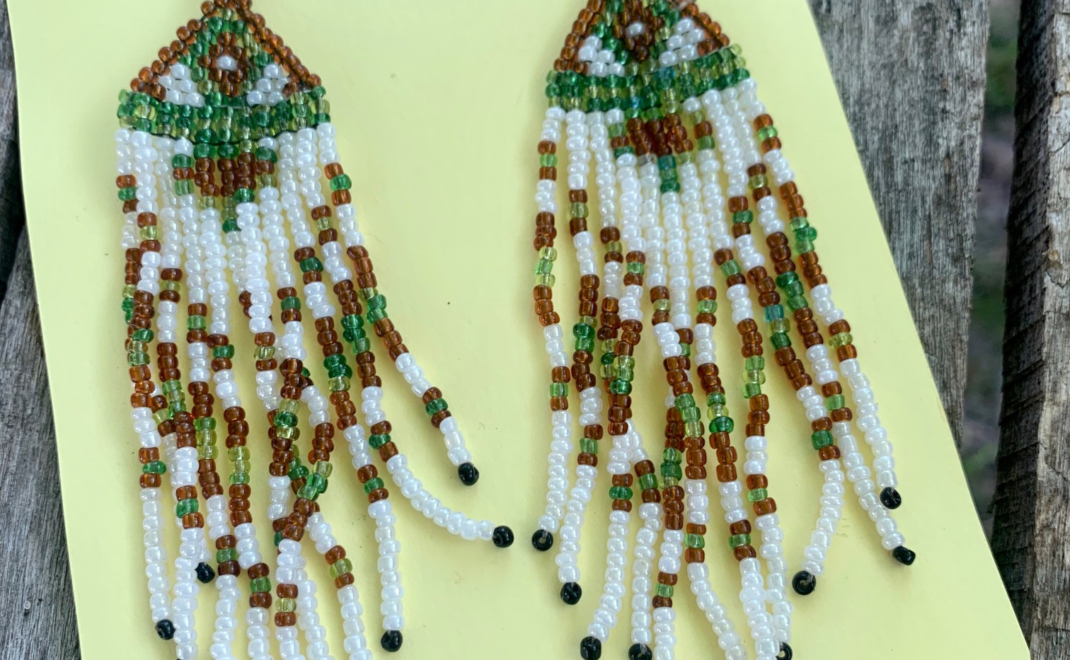 hand beaded earrings by Gail Caddell