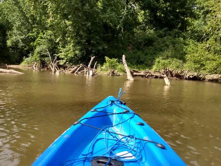 kayak on the kiamichi river.JPG