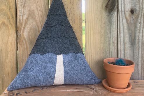 Talimena Mountain Wool Felt Pillow