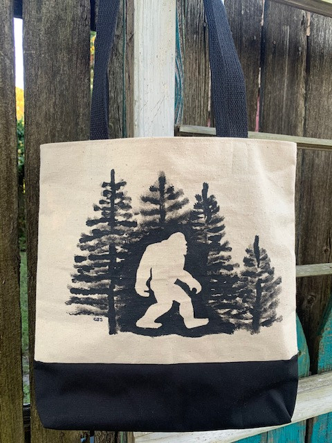 bigfoot canvas tote bag
