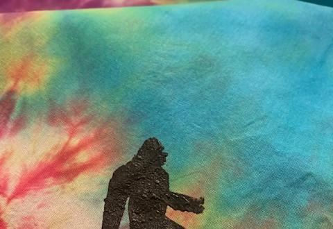 bigfoot tie dye bandana