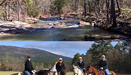 Horseback riding on the trails in the Ou