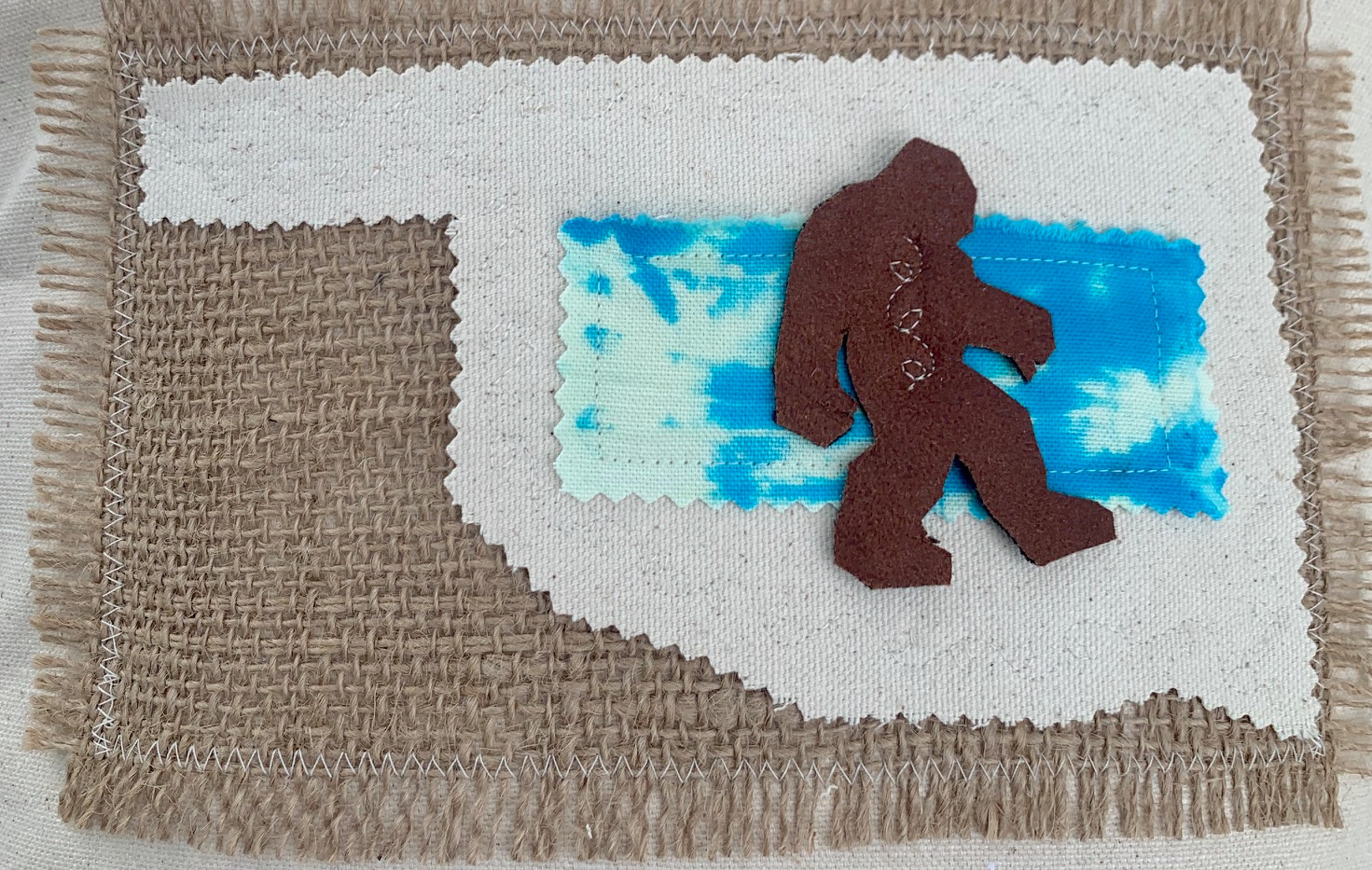 Bigfoot Applique Accent Pillow