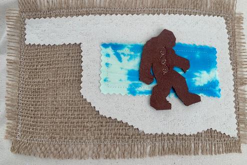 Bigfoot Applique Accent Pillow