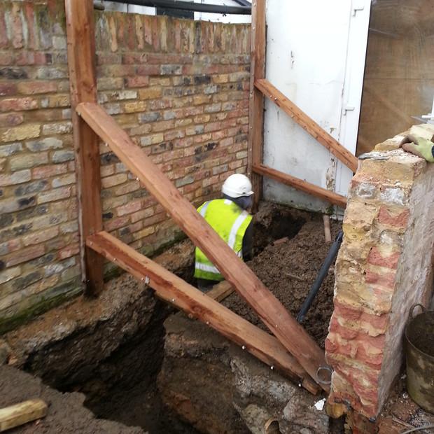 Greenwich foundation dig