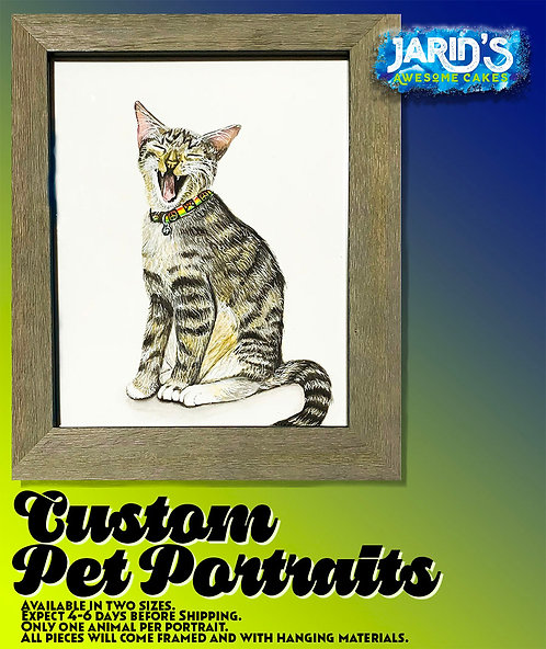 Framed Custom Pet Portrait