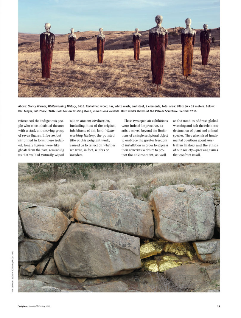 Sculpture Magazine, Jan/Feb. 2017