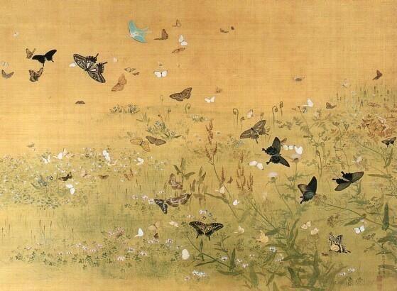 Maruyama Ōkyo 円山 応挙 : 百蝶図  hyakuchozu
