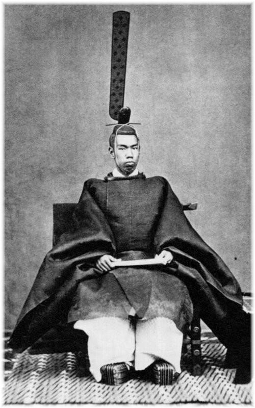 photo du Prince mutsuhito, premier empereur de l'ère Meiji au Japon
