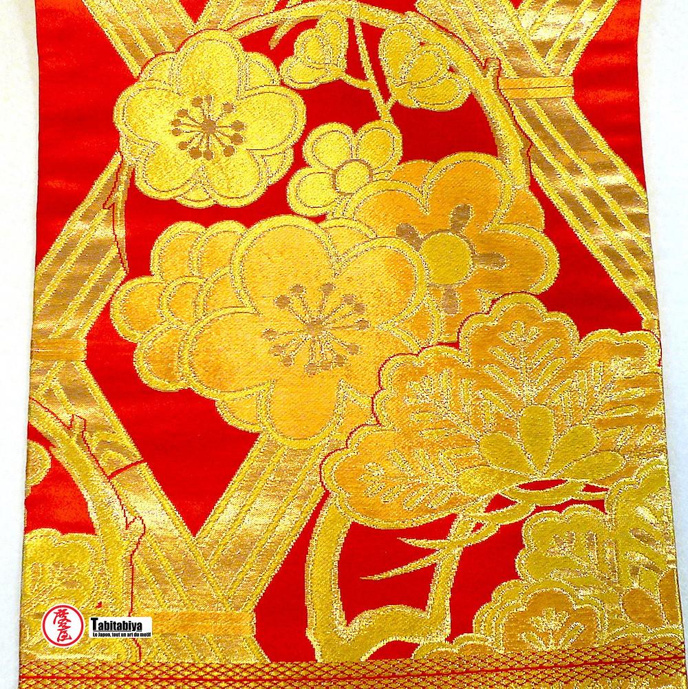 Ume-no-maru motif japoanis de cercle et fleurs de prunier