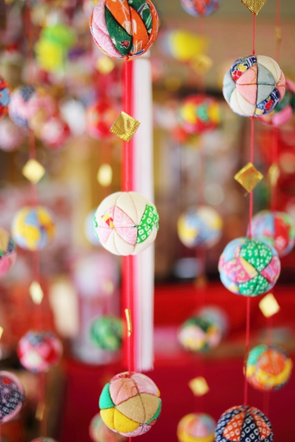 Sagemon décorations pour tsurushibina pour la fête des petites filles au Japon, le 3 mars