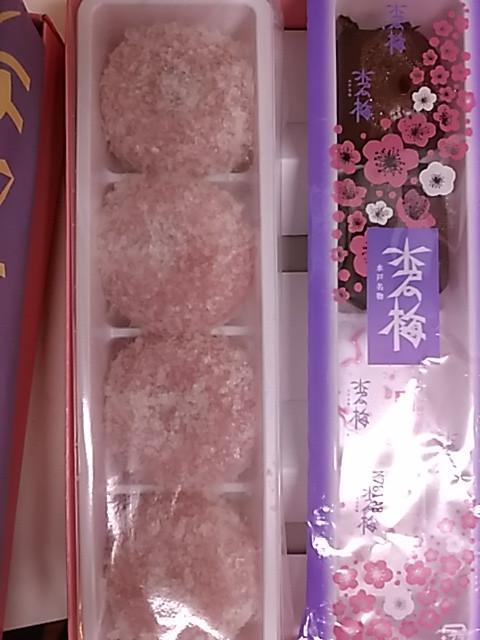 gâteaux japonais à la fleur de prunier confectionnés à Mito, Japon Tabitabiya boutique japonaise