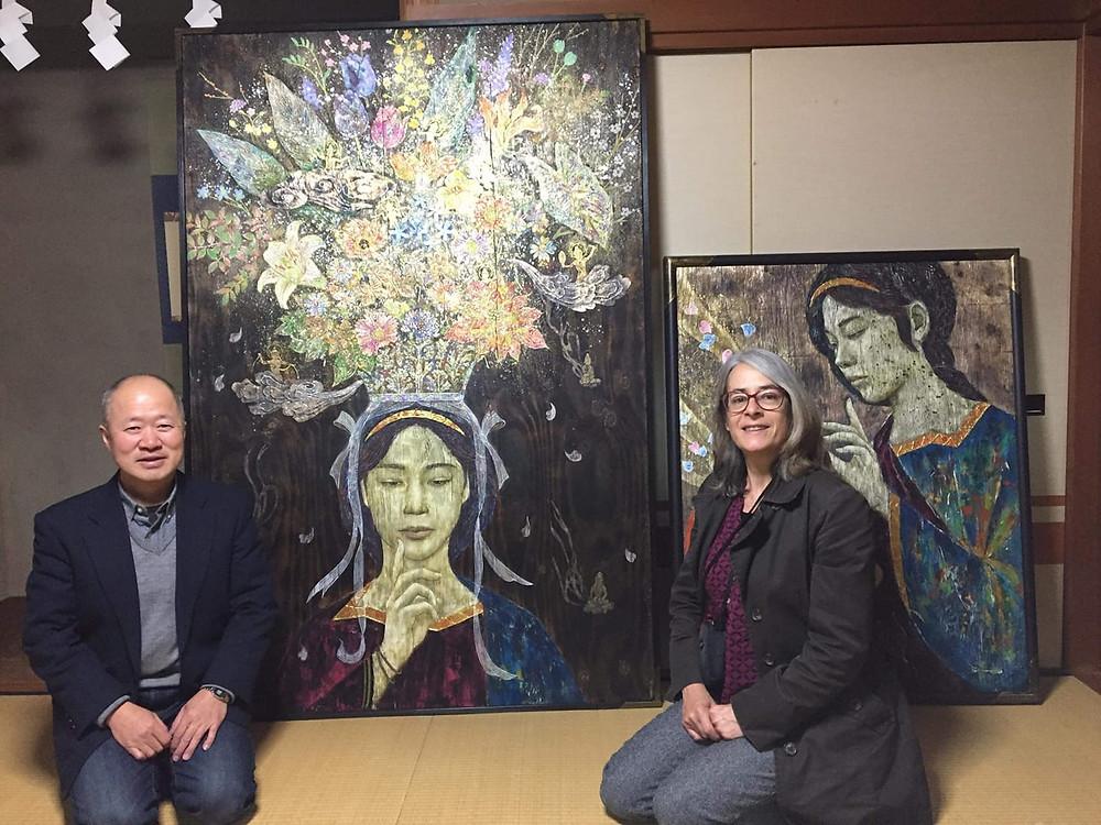Valérie Eguchi artiste nihonga