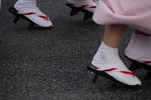 photo de tabi, chaussettes traditionnelles japonaises au gros orteil séparé