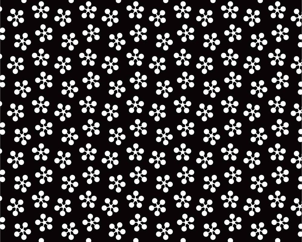 Ume bachi motif japonais de fleurs de prunier