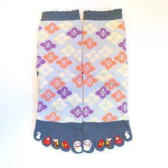 chaussettes japonaises tabi femme 5 doigts