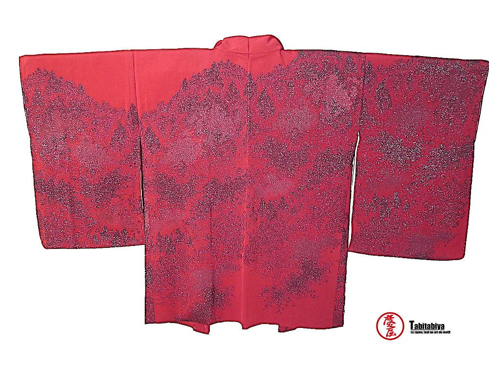 ebaori, haori, veste kimono, arborant un dessin Tabitabiya boutique japonaise