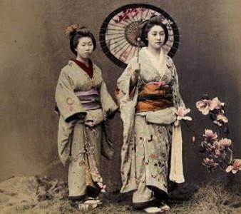 Femmes en kimono à la période d'Edo