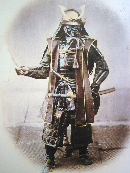 photo de felice Beato du Shogun Koboto Santaro portant son armure