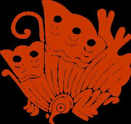 Emblème ddu clan des Taïra, un papillon machaon Ageha-Cho 揚羽蝶