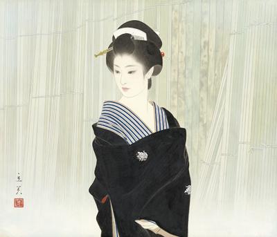 Shimura Tatsumi 志村立美 Kiba 木場 portrait de Tatsumi geisha