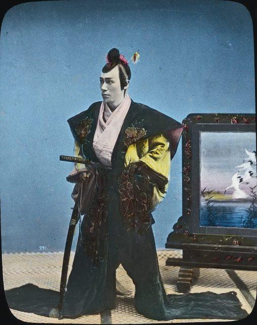 Samouraï portant un kamishimo à l'Epoque d'Edo